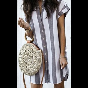 Madewell Maywood Stripe Shirtdress, XS